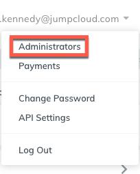 JumpCloud   Managing JumpCloud Administrator Account