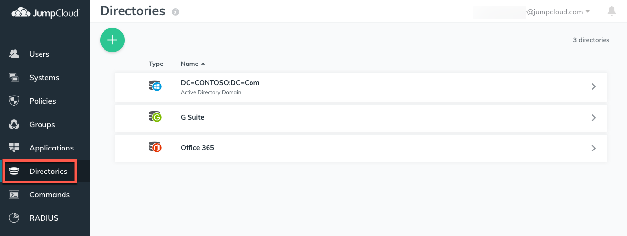 JumpCloud | Getting Started: Directories