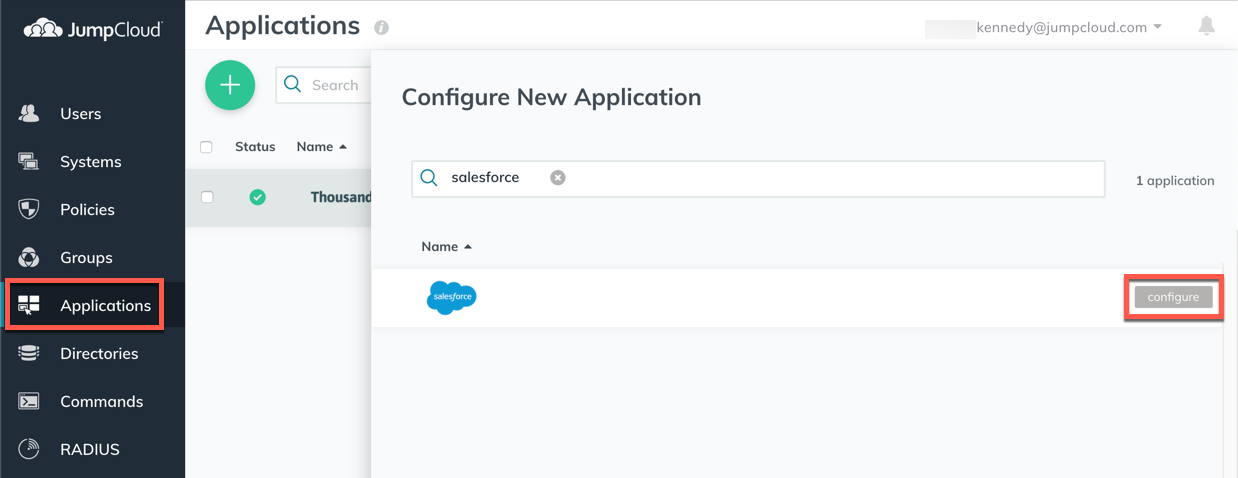 JumpCloud | Getting Started: Applications (SAML SSO)